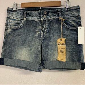 50 % SALERevolt denim shorts distressed rolled hem
